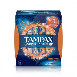 TAMPAX COMPAK PEARL SUPER PLUS