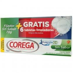 COREGA SIN SABOR 70GR + REGALO 6 TABLETAS LIMPIADORAS