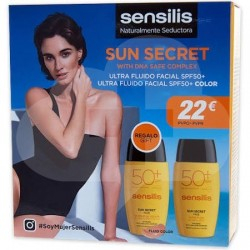 SENSILIS SUN SECRET PACK FLUIDO SPF 50 + FLUIDO COLOR SPF 50