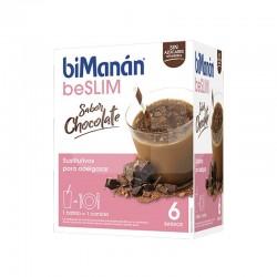 BIMANAN BE SLIM BATIDO CHOCOLATE 6 SOBRES