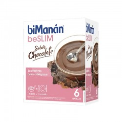BIMANAN BE SLIM NATILLAS DE CHOCOLATE 6 SOBRES