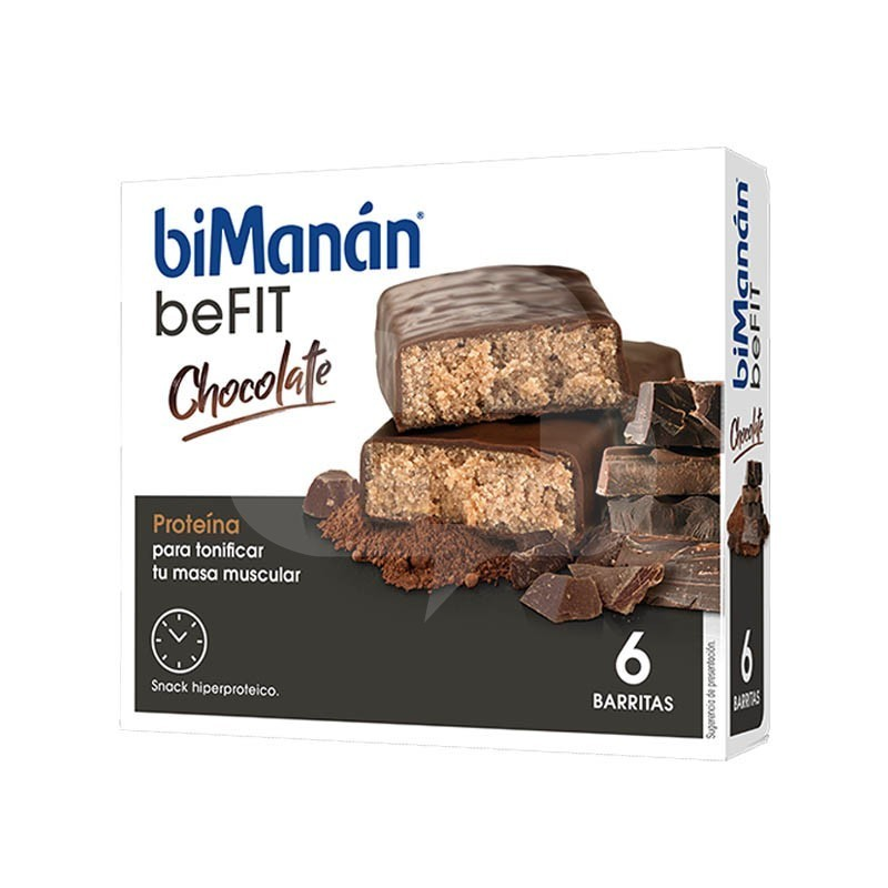 BIMANAN BE FIT BARRITA CHOCOLATE 6 UDS