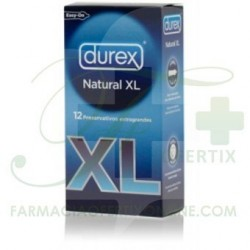 DUREX PRESERVATIVO NATURAL EASY ON XL 12 UDS