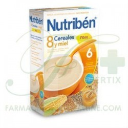 NUTRIBEN 8 CEREALES Y MIEL FIBRA 600 GR
